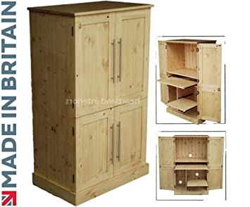 best cheap cfcfc 44a95 Solid Pine Desk, 4 Door Computer Workstation, Hideaway, Hidden home office  Cabinet. Choice of Colours. No flat packs, No assembly (WS4D5)