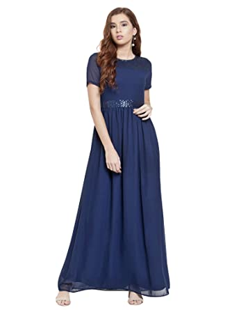 05fbf35dcc Martini Women'S Navy Blue Dresses: Amazon.in: Clothing & Accessories