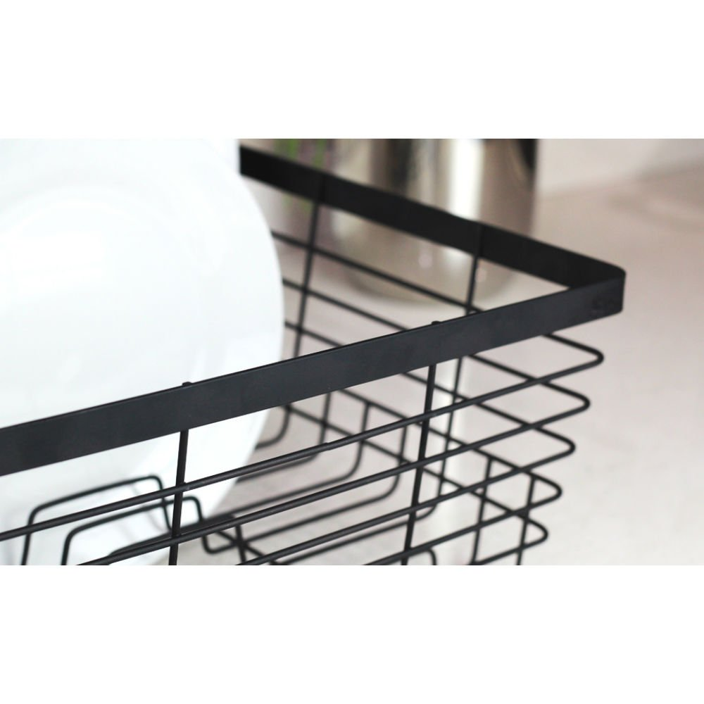 Stylish Sturdy Oil Rubbed Bronze Metal Wire Small Dish Drainer Drying Rack by Neat-O (Image #3)