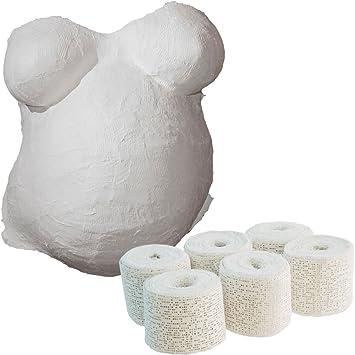 Baby Bauch Gips Abdruck Set *LIGHT* Bauchabdruck Bauchmaske Gipsbauchabdruck