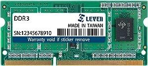 LEVEN DDR3 2GB (2GBx1) 1600MHz PC12800 Non-ECC SODIMM PC Computer Laptop Memory Module Ram Upgrade- (JR3S1600172308-2M)