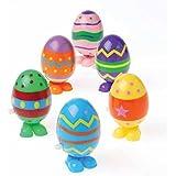 Dozen Wind Up Hopping Assorted Easter Eggs
