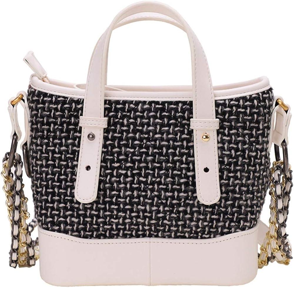 Fashion wild classic handbag Autumn and winter portable wandering bag woolen chain diagonal bag female 2019 new ins shoulder bag