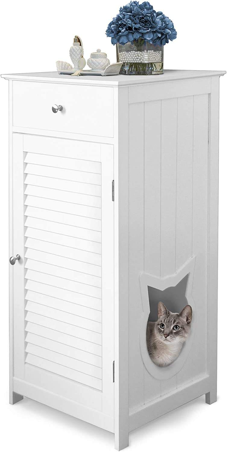 Penn Plax Cat Walk Litter Box Enclosure & Pet House