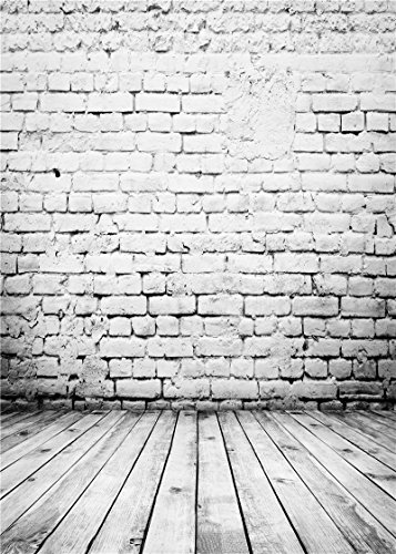 Daniu Wooden Floor Photography Backdrops Children Brick Walls Baby Background Vinyl 5x7FT 150cm X 210cm Daniu-JP060
