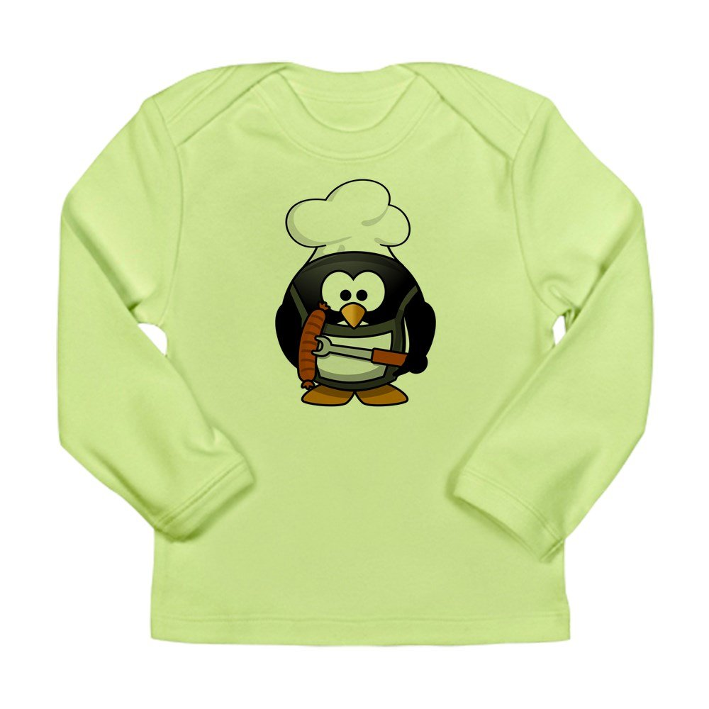Kiwi BBQ Grill King Truly Teague Long Sleeve Infant T-Shirt Little Round Penguin 3 To 6 Months