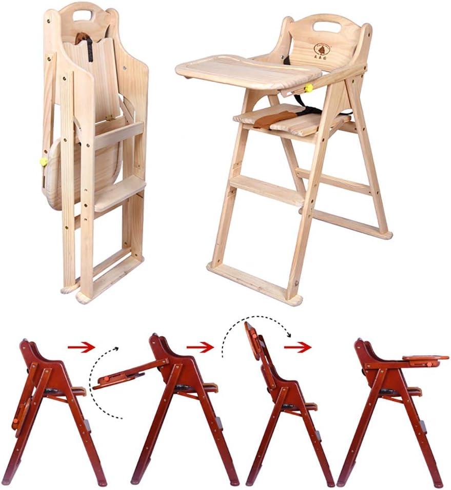 uso para beb/és ni/ños peque/ños bandeja extra/íble y patas ajustables trona para beb/é 3 en 1 Trona para beb/é elegante de madera noble cuero sint/ético de primera calidad trona de madera
