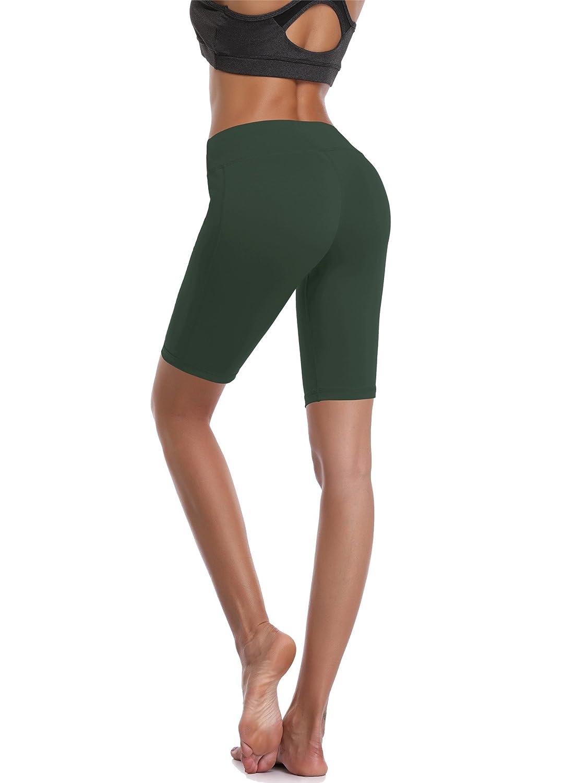 Cadmus Short de compression pour femme avec poche Taille haute