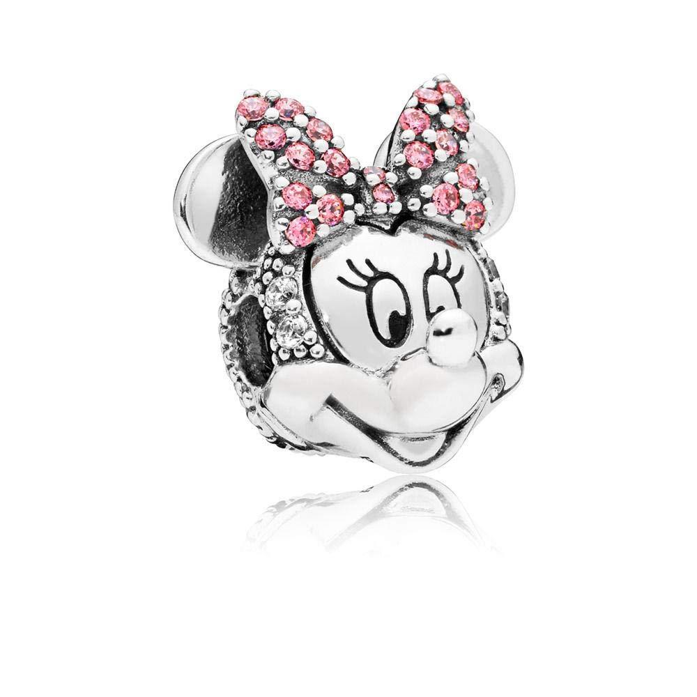 PANDORA Disney Shimmering Minnie Portrait 925 Sterling Silver Charm - 797496CZS