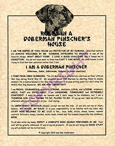 Rules In A Doberman Pinscher's House (Natural)