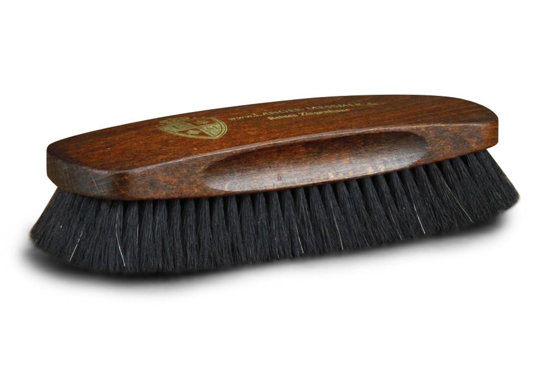 Langer & Messmer Exklusiv Schuhbürste | Polierbürste aus Ziegenhaar mit besonders dichter Bestückung zur Feinpolitur bei der Schuhpflege
