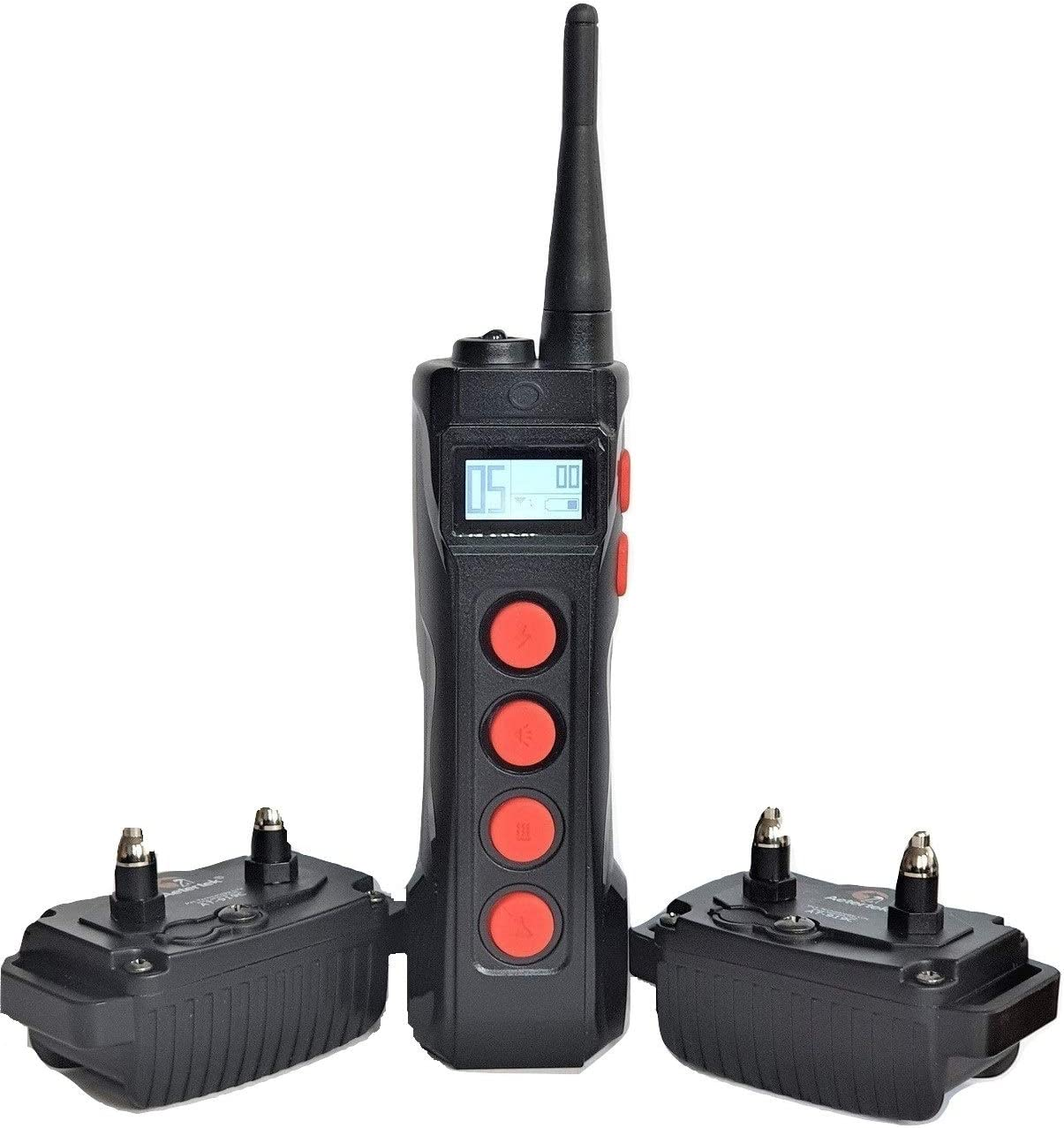 Aetertek AT-919C 2-Dog 1100 Yard Ultra Range Remote Training Shock Collar with AUTO Anti-BARK,Rechargeable and Waterproof