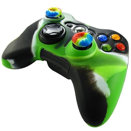 315 opinioni per Pandaren® Pelle cover skin per il Xbox 360 controller(verde chiaro + nero) x 1 +