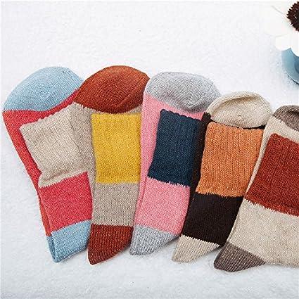 Calcetines de lana gruesa_cálida lana calcetines de lana de oveja lindo invierno calcetines en invierno y
