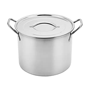 Aramco AI14437-8 Alpine Cuisine Stock Pot, 9.5-Quart, Stainless Steel