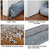 fowong Door Draft Stopper 36 Inch, Under Door Noise Blocker Cold Weather Door Snake Draft Stopper Weighted Heavy Duty Reduce Noise Saving Energy Sound Proof Under Door Guard, Gray