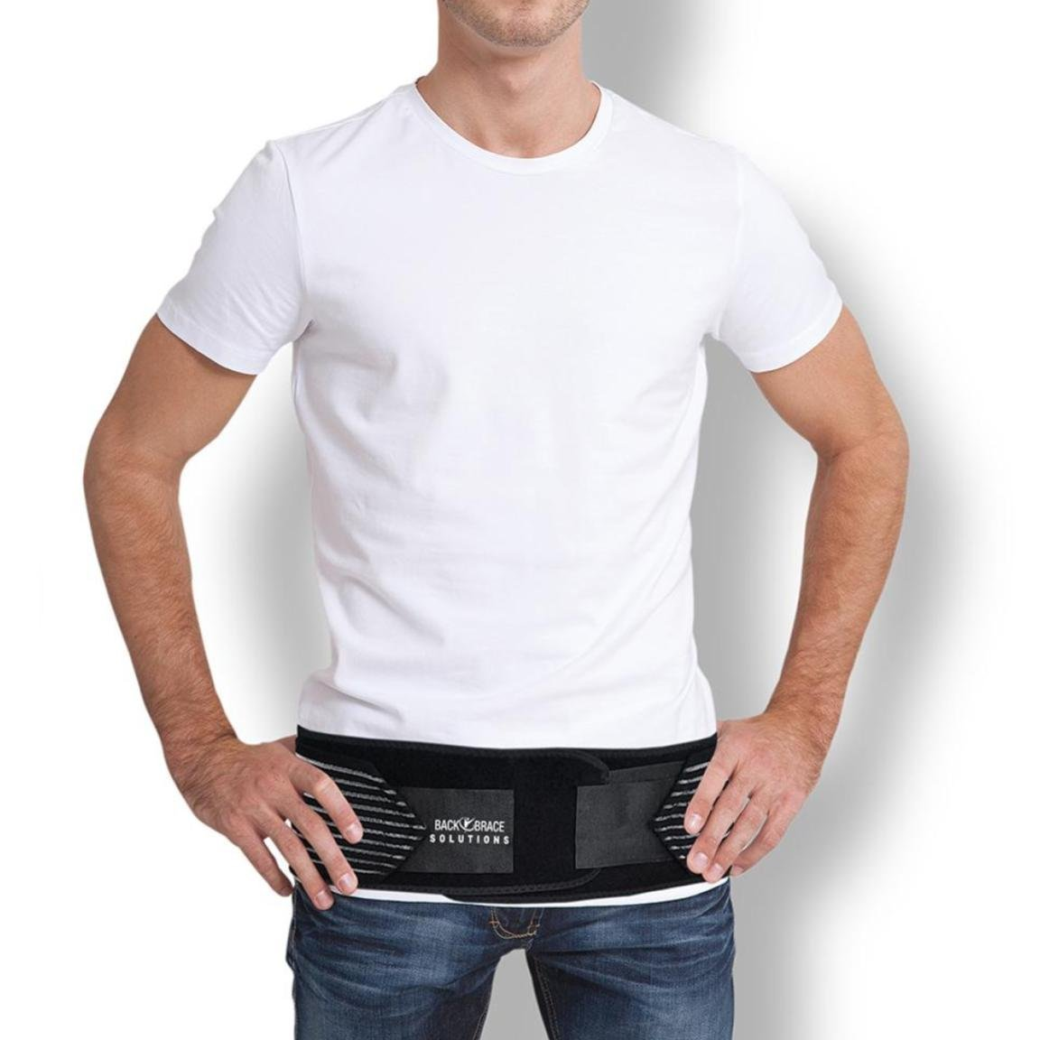 "SI Lock Support Belt - Sacroiliac SI Joint SI-LOC Belt for Sciatica Nerve Pain. Adjustable Compression Wrap Brace for Hip, Lower Back, Lumbar, Herniated Disk, Pelvic Instability (30"" - 45"" Hip Size)"