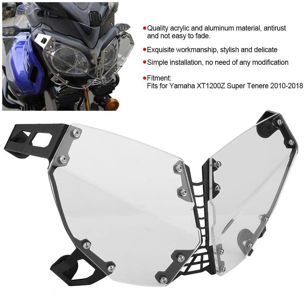 protezione trasparente per faro per moto adatto per XT1200Z Super Tenere 10-18 Copri faro