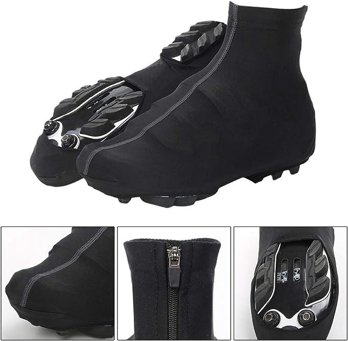 Negro, M VORCOOL Zapatillas de Ciclismo Equipos Antideslizantes Seguros c/ómodos Mujeres antirresbaladizas Calzado Deportivo al Aire Libre Hombres Cubiertas