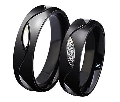 Anazoz Couple Bague Rond Feuille Pattern 316l Acier Inoxydable Bague Mariage Alliance Classique 6mm Unisexe Or Noir Taille 49 69
