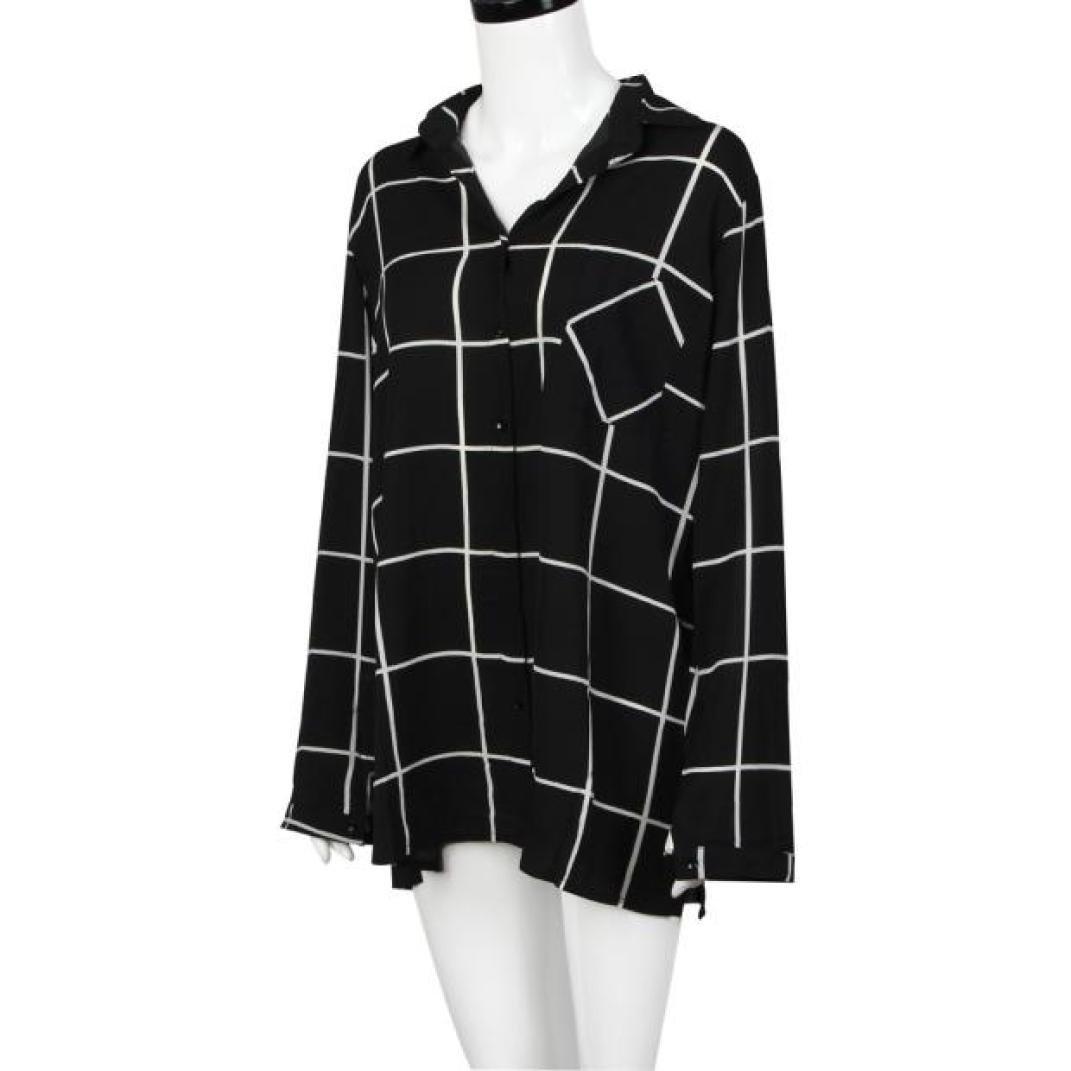 Cinnamou Blusa de Mujer Camisa de Manga Larga Blusas de Chifón Camisas Informales: Amazon.es: Ropa y accesorios