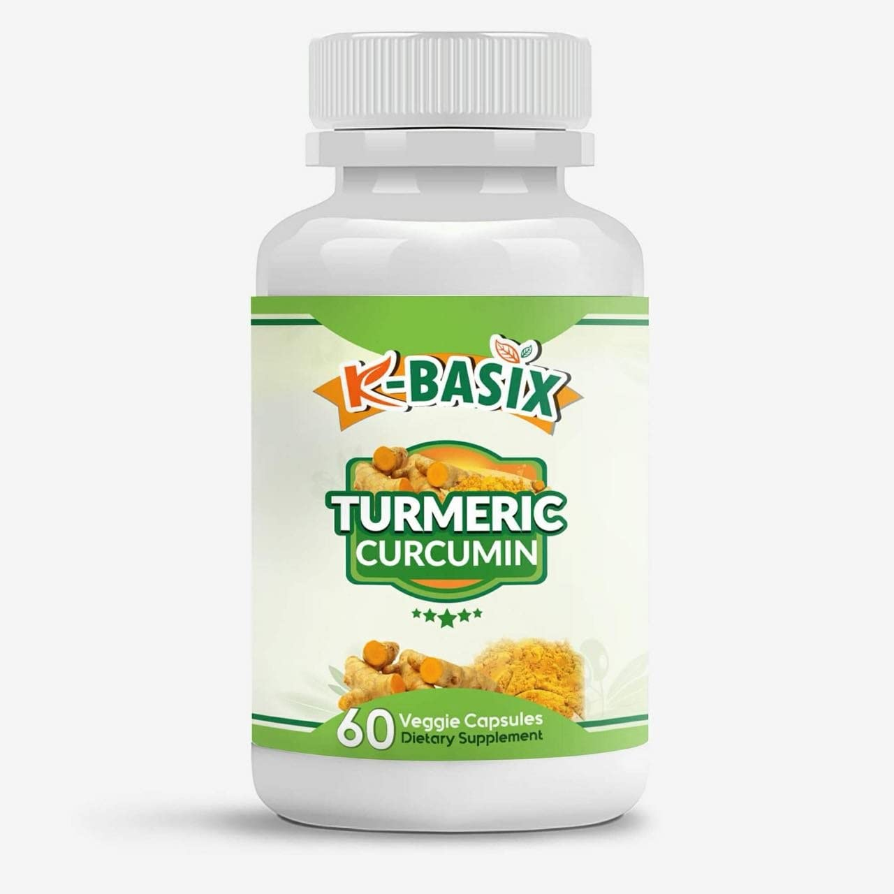 Turmeric Curcumin Pills with Bioperine 600mg – Max Potency of 95 Curcuminoids – Premium Pain Relief Joint Support – 1 Month Supply by K Basix