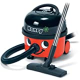 "Numatic Top-Seller Hi-Power (but quiet) 2-stage Professional Canister Vacuum Cleaner with AutoSave Technology, with the A1 Accessory tool kit, HVR200A, ""Henry"" (Color: Red)"