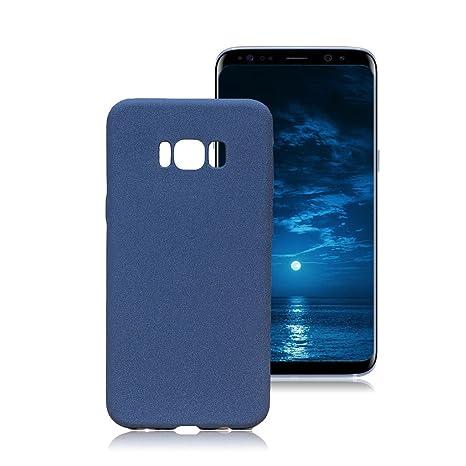 Yunbaozi Funda Samsung Galaxy S8 Carcasa TPU Fregar Silicona Azul
