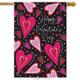 Dancing Hearts Valentine's Day House Flag Primitive 28