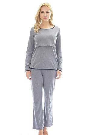 Bearsland Women s Maternity Pregnancy Nursing Sleepwear Nightgowns Set Breastfeeding  Pajamas 492213f70
