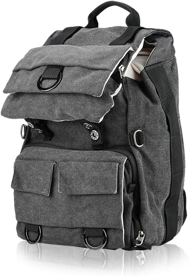 Canvas Camera Bag for Cameras Neufday DSLR Camera Backpack Green