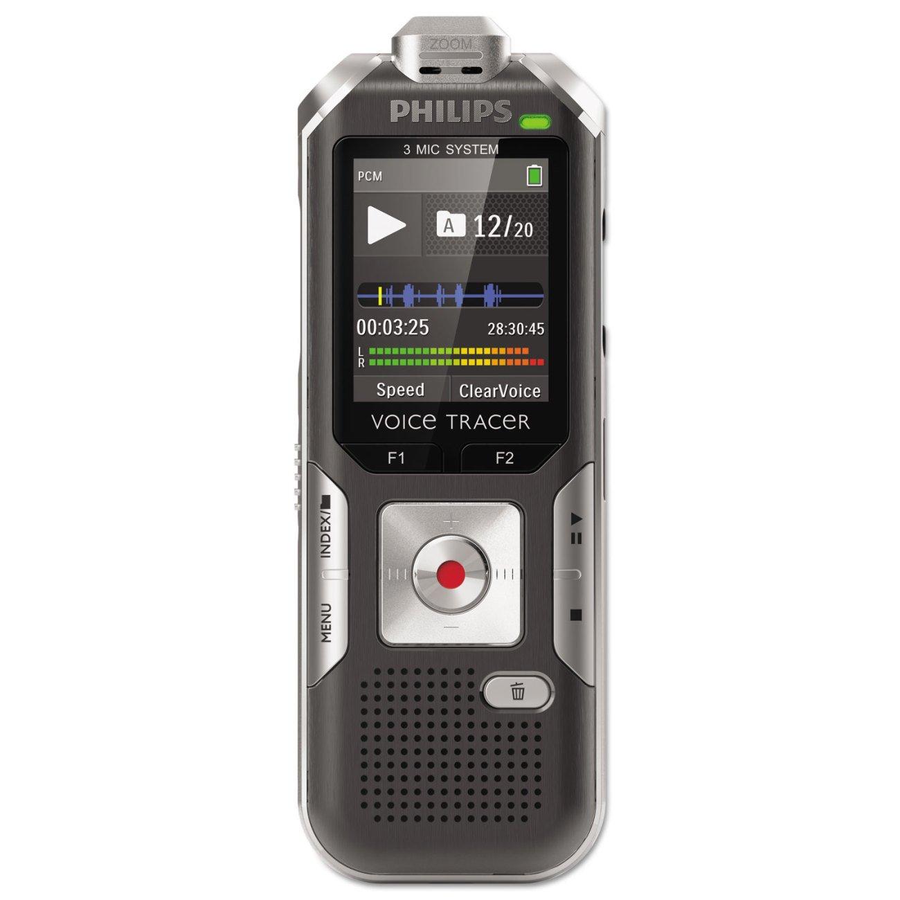 PHILIPS DVT6000 RECORDER 3MIC AUTOZM 4GB Philips Electronics DVT6000/00