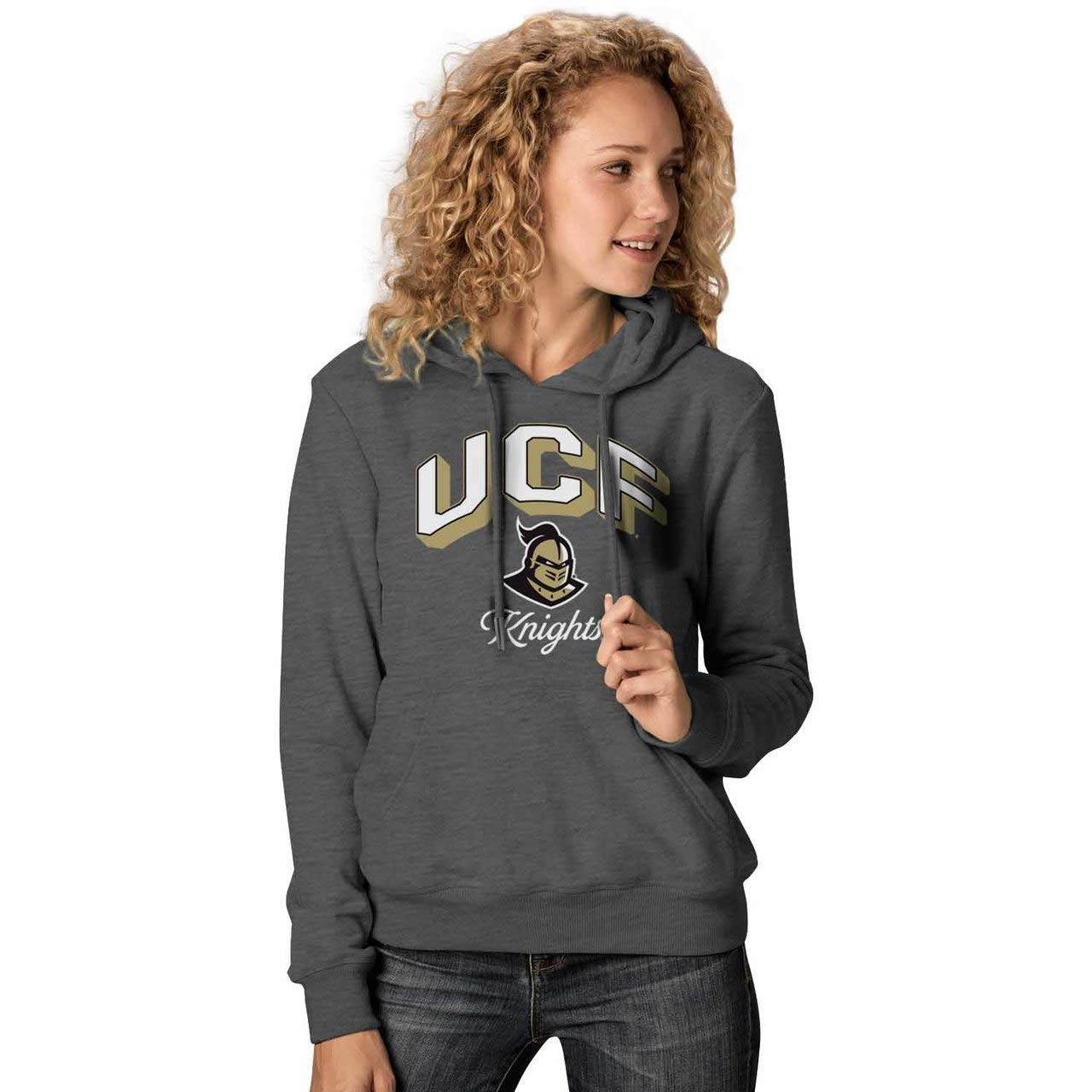 Central Florida Knights  Charcoal NCAA Womens Premium Campus Classic Goodie Hoodie  Multiple Teams, Sizes