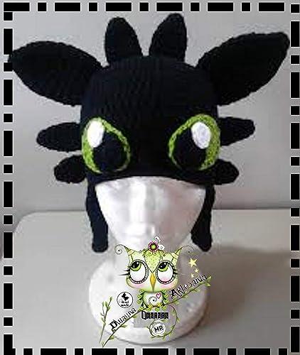 Gorro Dragón Pesadilla Monstruosa - Cómo Entrenar a tu Dragón PERSONALIZABLE (Bebé, crochet,