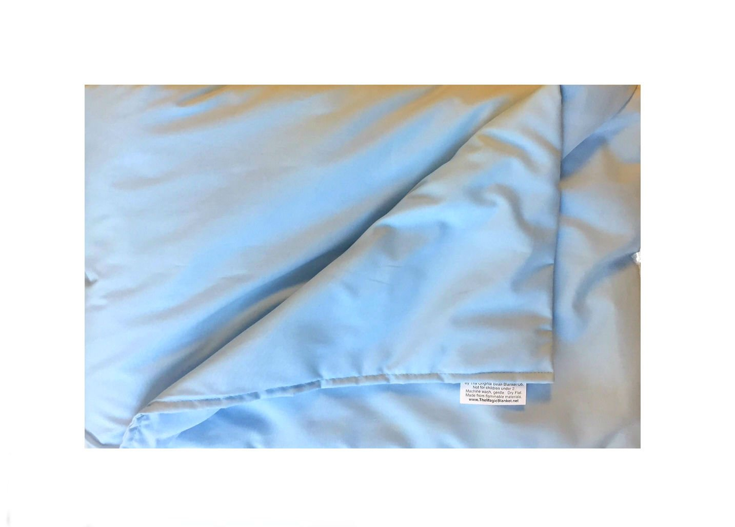 The Magic Weighted Blanket - The Blanket that Hugs You Back … (36 x 60 10 lb, Blue Cotton)
