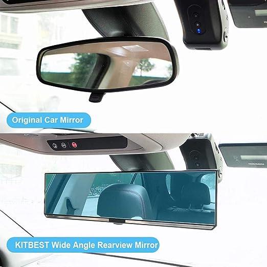 Auto Rückspiegel Universal Innenspiegel Saugnapf Spiegel Für Auto Lkwrückspiegel Auto Innen Panorama Rückspiegel Auto Innen Rückspiegel Universal Innenspiegel Auto Pkw Lkw Anti Blend Winkeleinstellung Auto