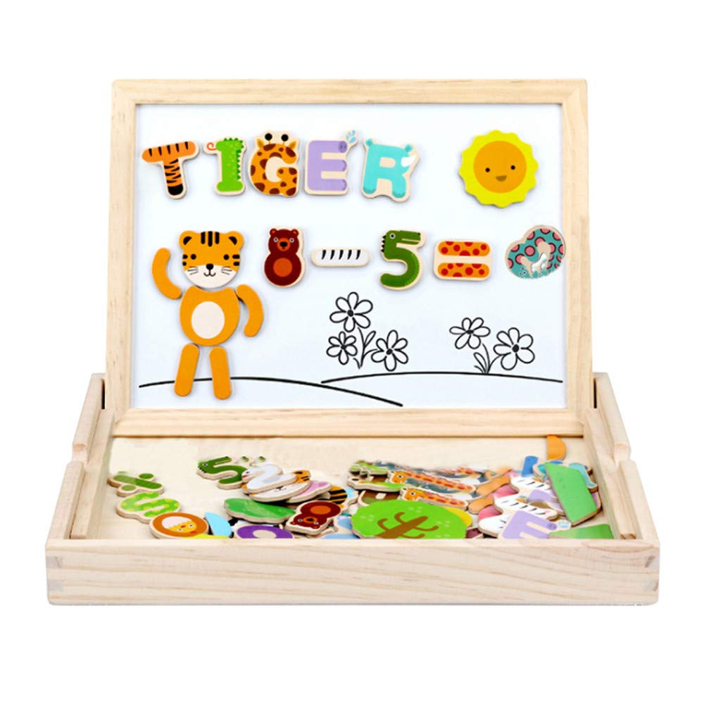 Fine Magnetic Letters 76 Pcs with Magnetic Board and Storage Box - Uppercase Lowercase Foam Alphabet ABC Magnets for Educational Toy Set for Classroom Kids Learning Spelling (As Shown) by Fine