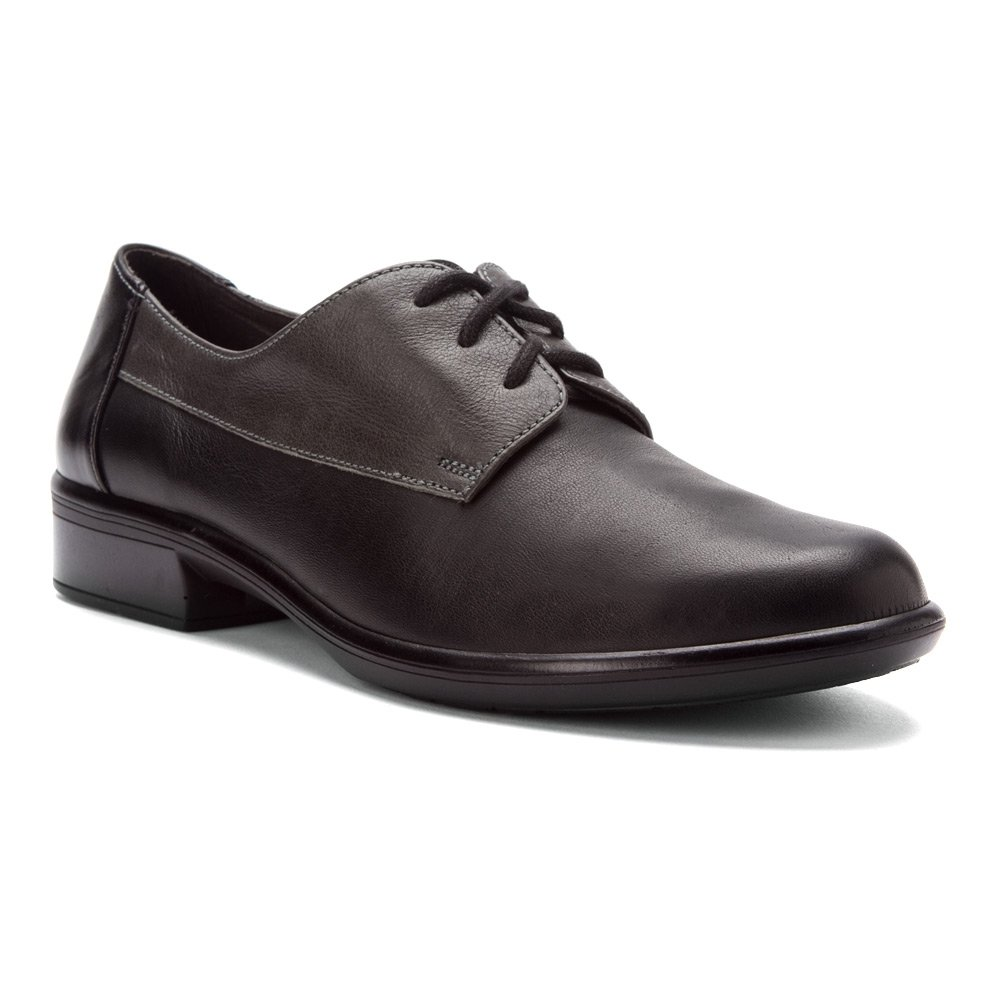 NAOT Women's Kedma Oxford B0072KXXVE 37 B(M) EU|Jet Black/Tin Gray/Black Madras