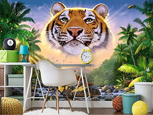 - Duleen 3D Mural Wallpaper Custom Made Decoration Kids Coco Forest Tiger Scenery Background for Wall Sticker 300Cmx240Cm|118.11(in) X94.48(in)