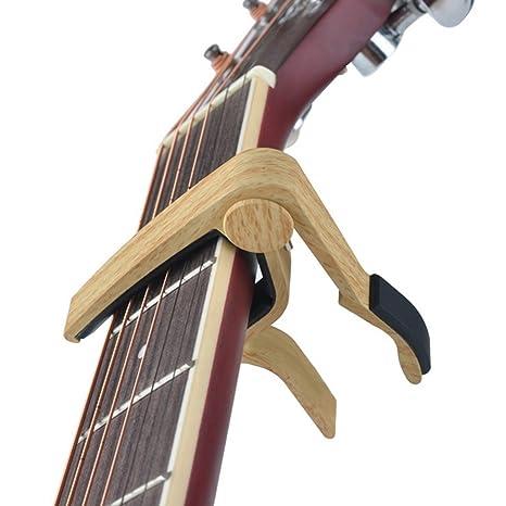 Arena que el color, azul y blanco porcelana, madera color, rosa grano de madera guitarra cejilla para guitarra, Guitarra eléctrica acústica de cambio ...