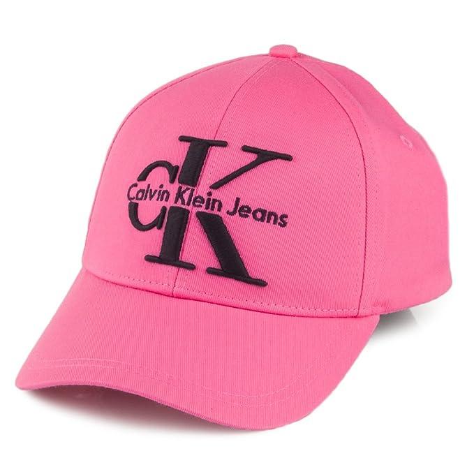 Calvin Klein Gorra de béisbol de algodón Re-Issue Rosa Intenso - Ajustable: Amazon.es: Ropa y accesorios