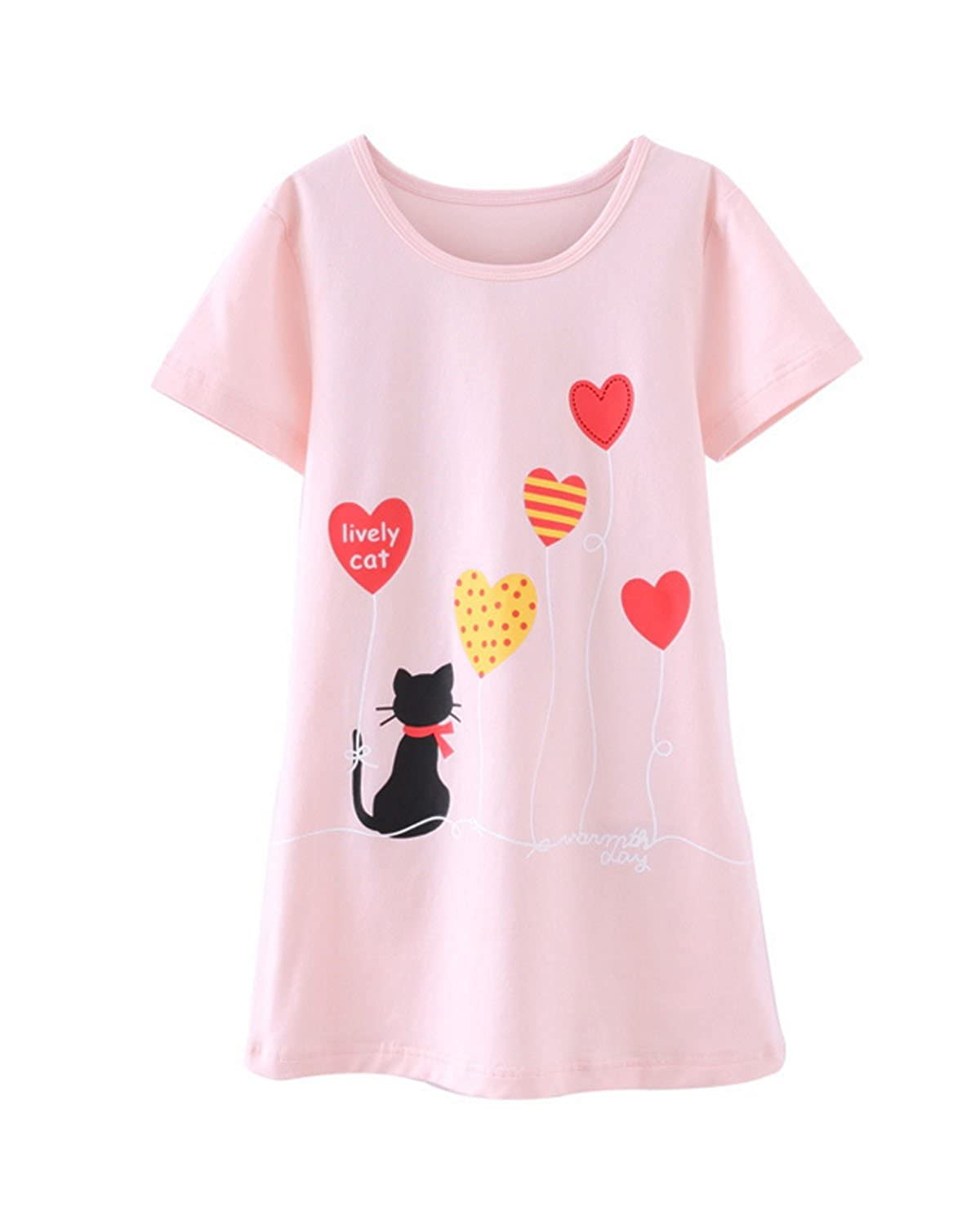 fba7aa01e9e7 Cute Cat Korean Girl Nightgown