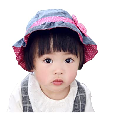 eaa8b7afb Kid Girl's Sun Hats Little Girl's Sunmmer Hats Bucket Fisherman Hat 0-6t