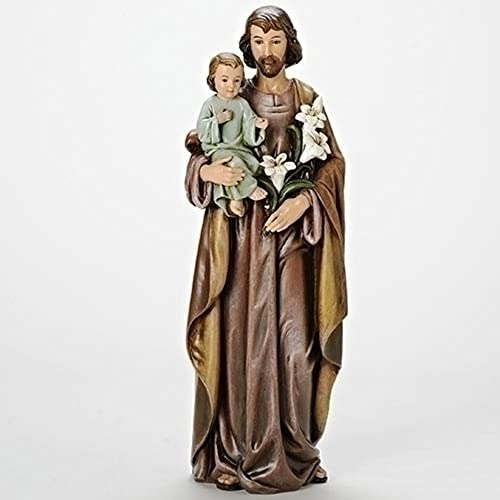 Joseph and Child 18 inch Resin Stone Inspirational Figurine Decoration Statue