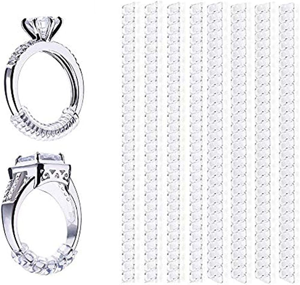 Ring Size Adjuster Invisible Plastic Transparent Adjuster For Rings Ring Sizer Ring Guard Fit For Any Rings As Picture Shown 8pcs Amazon Co Uk Jewellery