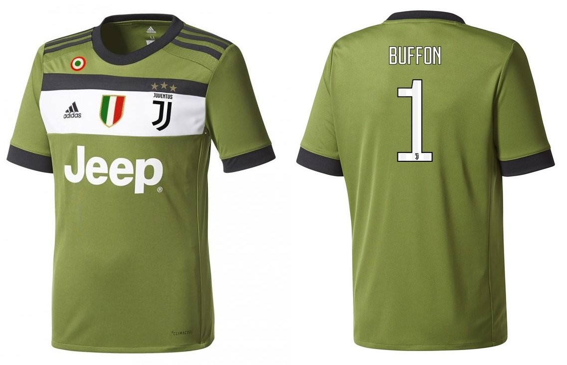 Trikot Kinder Juventus 2017-2018 Third Coppa Scudetto - Buffon 1