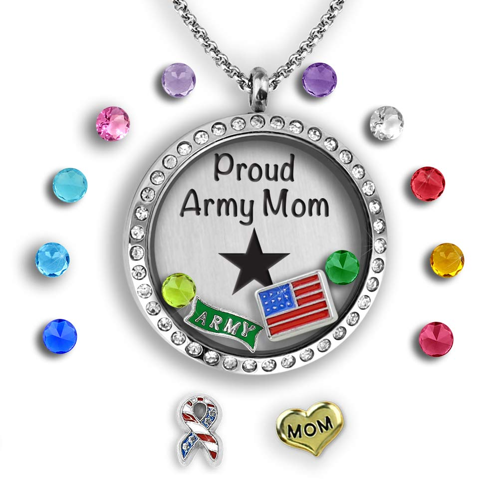AIR FORCE Mom  charm NECKLACE chain military