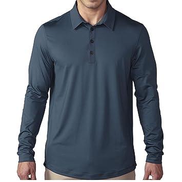 adidas Golf Mens Golf Climacool UPF Long Sleeve Polo Shirt ...