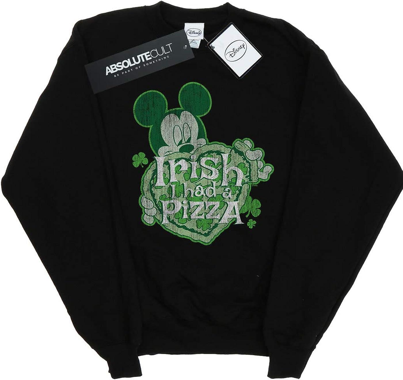 Disney Girls Mickey Mouse Shamrock Pizza Sweatshirt