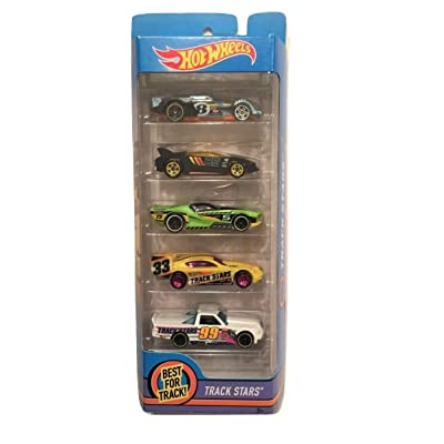 Hot Wheels 2020 Track Stars 5-Pack ~ Epic Fast, Quick n' SIK, Street Shaker, Time Tracker, Circle Trucker (All Part of The HW Racing Team): Toys & Games